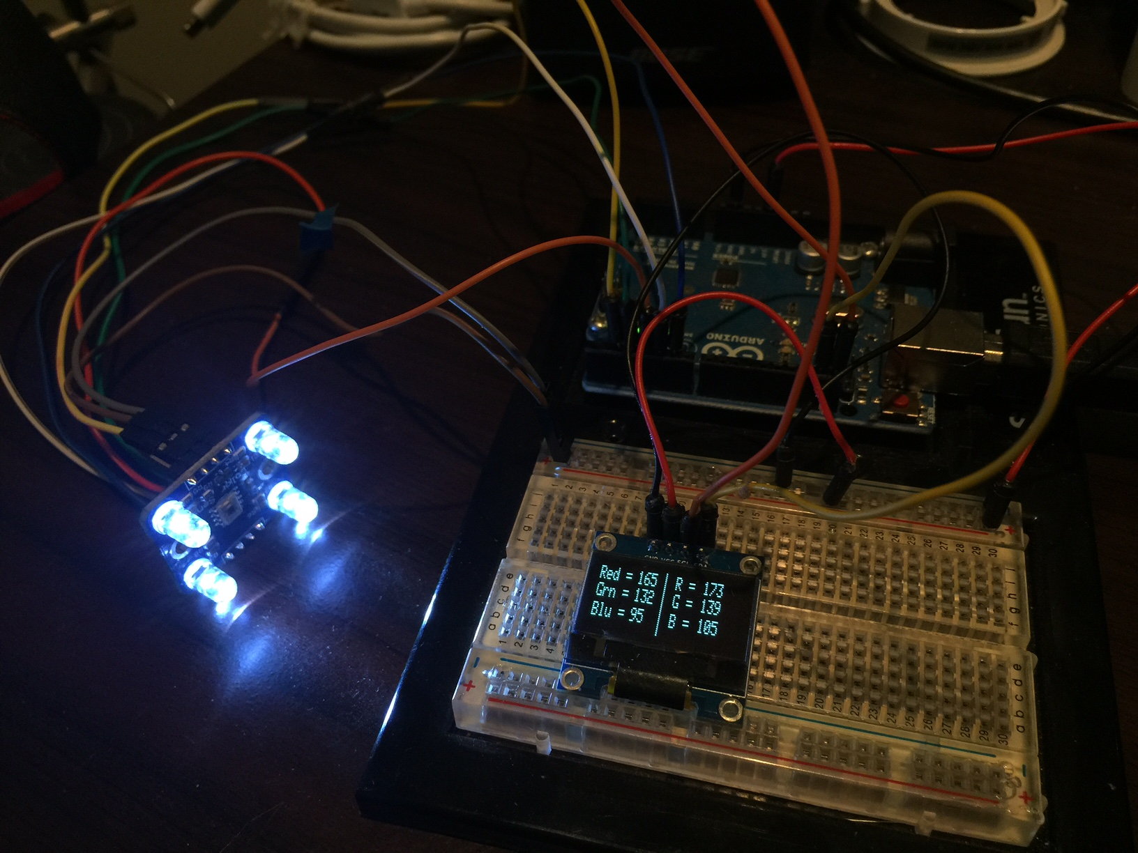 Arduino Color Sensor Virtual Reality Developer Circuit